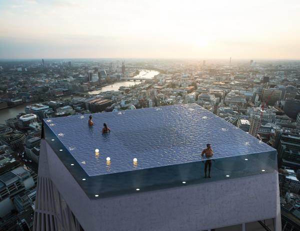 Världens första infinity pool med 360 graders utsikt – i London