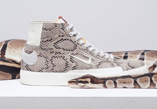 Soulland designar Nikes populära SB Blazer i ormskinn