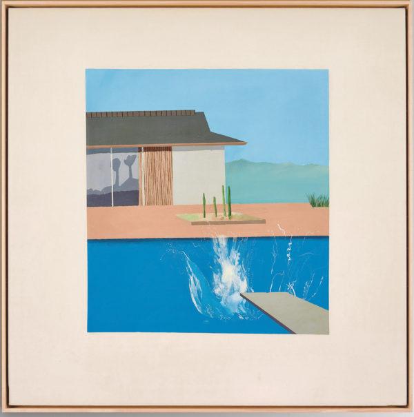 """David Hockneys välkända tavla """"The Splash"""" väntas gå för 30 miljoner pund"""